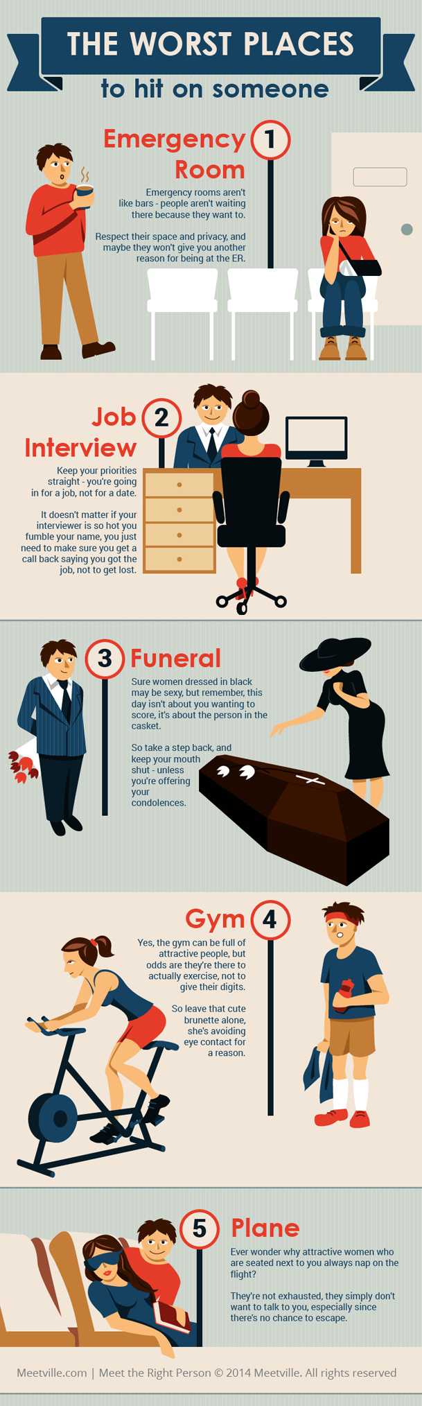 Places that Turn Flirt into a Disaster Infographic dating-singles-meetville-matchmaking